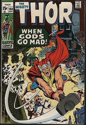 Thor #180  Neal Adams Art Versus Mephisto. Glossy Cents Great Value Copy 1970
