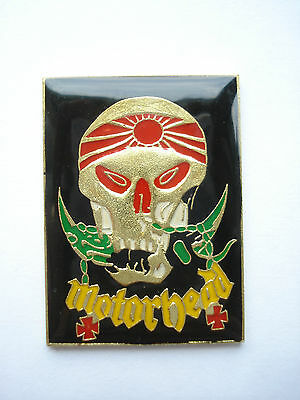 MOTORHEAD LEMMY RARE IRON FIST BOMBER HEAVY METAL ROCK MUSIC PIN BADGE SALE 99p