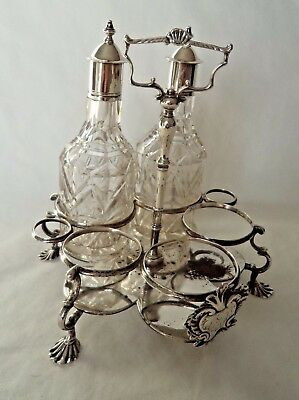 18Th Century / George Iii London 1760 Solid Silver Condiment Stand