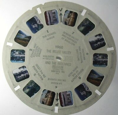 View Master 3D Bildscheibe - 1960   The Meuse Valley And The Ardennes   Belgium