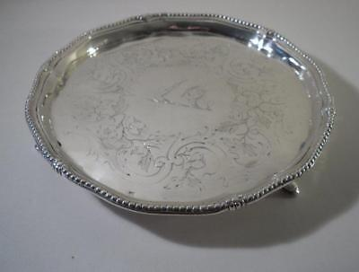 An Antique George III Silver Salver / Waiter :  London 1781