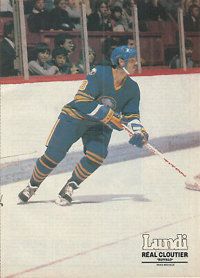1983 Print Pictures Of Real Cloutier Of Nhl Buffalo Sabres Hockey Team