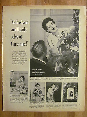 Rosalind Russell, Jergens Lotion, Full Page Vintage Promotional Ad