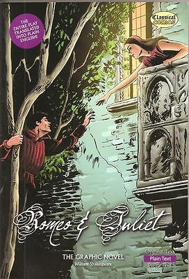ROMEO AND JULIET -  WILLIAM SHAKESPEARE GRAPHIC NOVEL Paperback Plain Text Vn