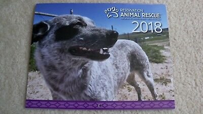 NEW 2018 Reservation Animal Rescue wall calendar Native American