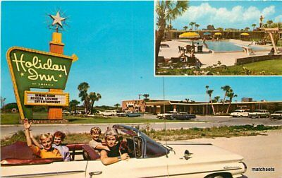 auto Roadside 1950s Cape Canaveral Florida Holiday Inn Cocoa Pool Teich 9841