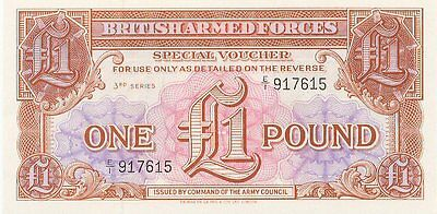 UK/British Armed Forces 1 Pound Note 3rd Series (1956) - Perfect UNC!