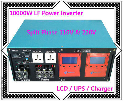 40000W Peak 10000W LF SP Pure Sine Wave 24V DC/110V,220V AC 60Hz Power Inverter