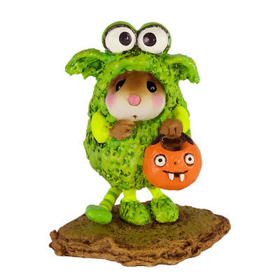 LIL MONSTER by Wee Forest Folk, WFF# M-590, Halloween Mouse, Green