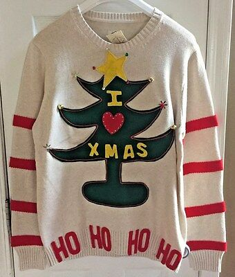 mens grinch ugly christmas sweater holiday cheermeister handmade nwt - Grinch Ugly Christmas Sweater