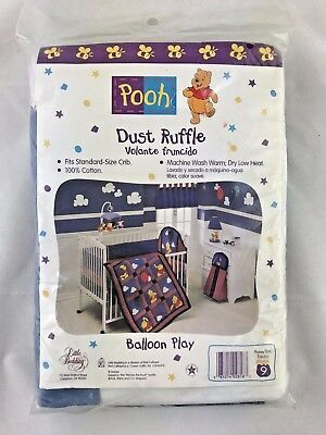 NEW NOS WINNIE THE Pooh Dust Ruffle Standard Size BALLOON PLAY