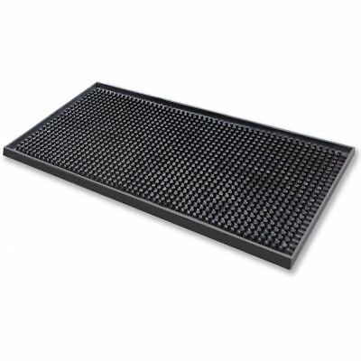 Mini Black Rubber Bar Mat Runner - 15cm x 30cm Cocktail Service Drink Beer Pub