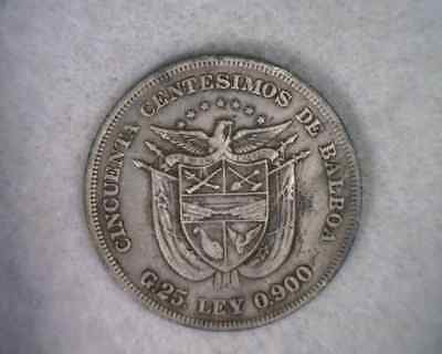 PANAMA 50 CENTS 1904 VERY FINE SILVER COIN (stock# 0114)