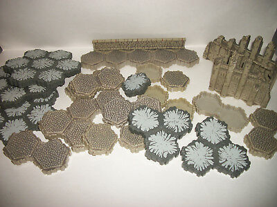 Heroscape Game Figure Army Small Mixed Lot Terrain Stone Gray Lot