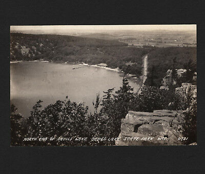 OPC Vintage RPPC North End of Devils Lake State Park