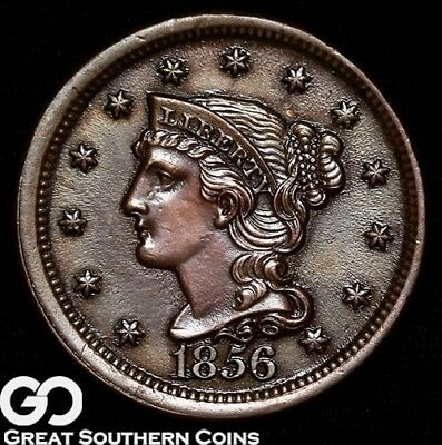 1856 Large Cent, Braided Hair, Great Strike, Choice BU+++