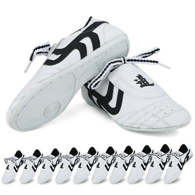 Children Men PU Taekwondo Shoes Martial Arts Karate Training Athletic Shoes CO