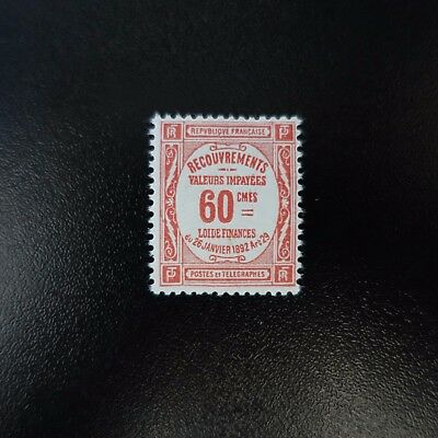 France Timbre Taxe N°48 Neuf ** Luxe Gomme D'origine Mnh