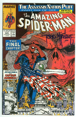 Amazing Spider-man #325 Signed Mcfarlane Marvel 1988