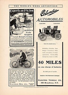 1901 Waltham Orient Motor Bicycle Motorcycle Ad