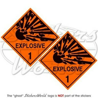 "EXPLOSIVE Explosion Danger Warning Safety Sign 75mm(3"") Vinyl Stickers-Decals x2"