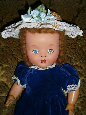 "19 ""  Vintage Composition Toddler Doll With Sleep Eyes Maybe Australian Peerless"