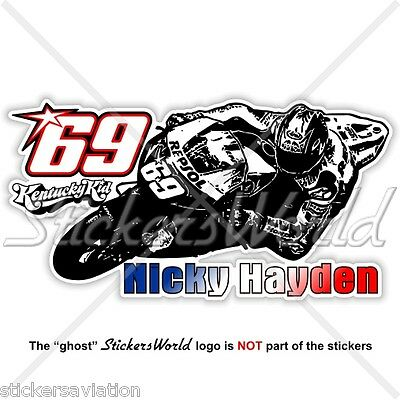 NICKY HAYDEN 69 Kentucky Kid MotoGP Racing 153mm 6 Sticker Decal Aufkleber
