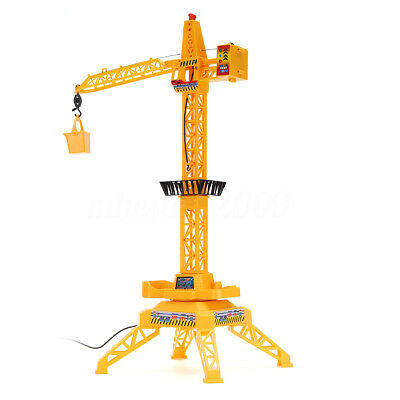 Mini Tower Remote Control Crane Hobby Lift Engineering Vehicle Toy Set Kid Gifts