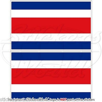 """COSTA RICA State Flying Flag 2/"""" Decals x4 Vinyl Stickers Central America 50mm"""