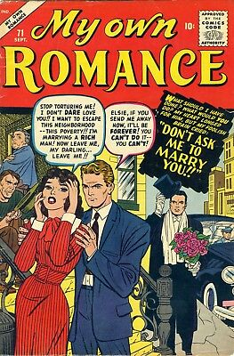 MY OWN ROMANCE Sept. 1959 No. 71, Kirby / Baker art,  36pgs. Complete
