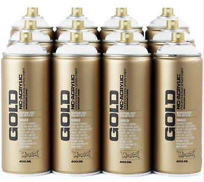 Montana Gold Spray Paint Cans - 12 Can Deal in Black or White!