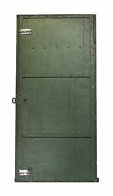 Industrial Green Metal Door