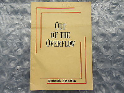 Old 1940's Booklet Out of the Overflow United Church Canada Missions