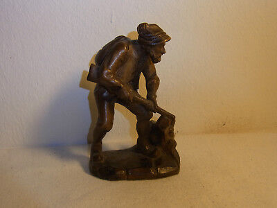 Vintage German Carved Wood Wall Hunting Man  #BP