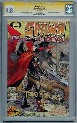Spawn #223 Cgc 9.8 Signature Series Signed Todd Mcfarlane Walking Dead #1 Image
