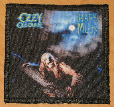 """OZZY OSBOURNE """"BARK AT THE MOON"""" silk screen PATCH"""