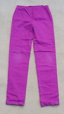 MISS E-VIE Girls Pink Cerise Jeggings Stretchy Pants 98.5% Cotton 12 - 13 Years