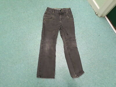 "Next Relaxed Fit Jeans Waist 28"" Leg 26"" Black Faded Boys 12 Yrs Jeans"