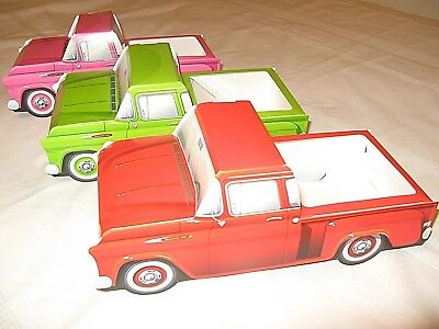 9 ASSORTED Chevy Cardboard Trucks Kids Food Box Tray  Table Center Party Favor
