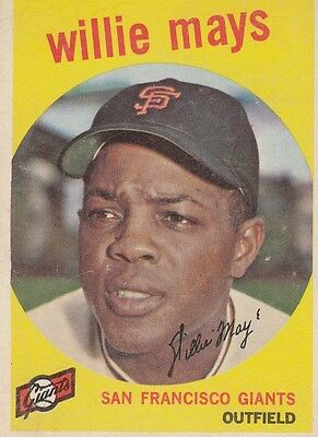Topps 1959 #50 Willie Mays-Hall of Famer-San Francisco Giants