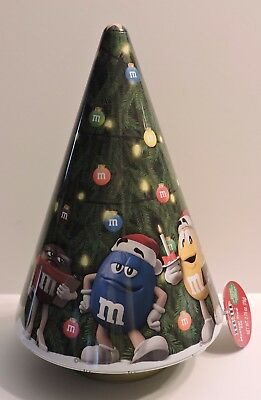 2017 M&m's Six Character Limited Edition Collectible Musical Christmas Tree Tin
