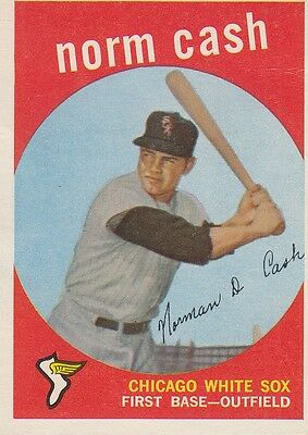 Topps 1959 #509 Norm Cash-Chicago White Sox-hi number