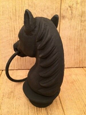 "Horse Head (With Slight Flaws) Cast Iron 8 1/2"" tall Barn Supplies 0170S-11617"