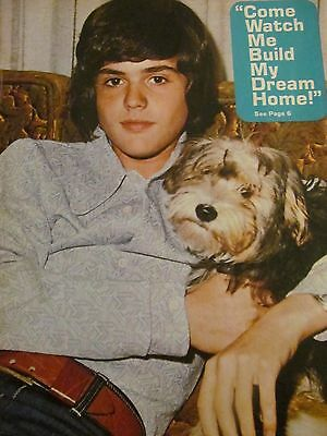 Donny Osmond, The Osmonds Brothers, The Waltons, Double Full Page Vintage Pinup