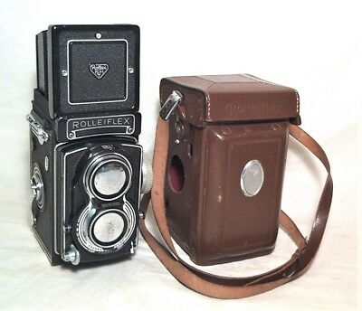 Rolleiflex Model 3.5 T Tlr With Tessar 75Mm 3.5 - Very Clean + Cap & Case