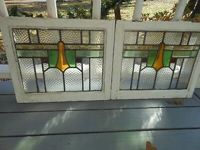 MA-175B Lovely Older Leaded Stained Glass Window From England 2 Available