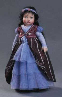 """HELEN KISH """"RILEY"""" DOLL WEARING SNOW WHITE OUTFIT 7 1/2"""" TALL NEW IN BOX w COA"""