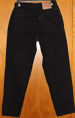 "Levis 550 Black 14 M Reg Relaxed Fit Tapered Leg Classic High Rise ""Mom"" Jeans"