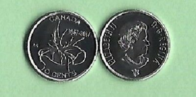 2017 UNCIRCULATED CANADA TEN CENTS / DIME - WINGS of PEACE REVERSE