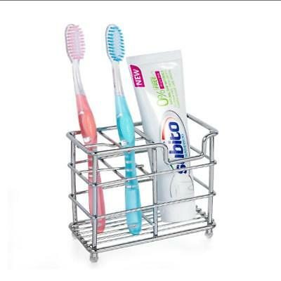 Toothbrush Toothpaste Holder Stand Storage Bathroom Stainless Steel Movable B